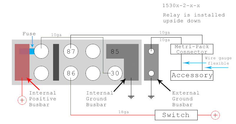 BussmannRTMR_WiringDiagram_WithConnectorAndAccessory_web800 diy bussmann rtmr fuse block, part 4 wiring and schematics bussmann fuse block wiring diagram at bakdesigns.co