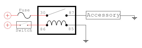 nc 4 pin relay wiring diagram